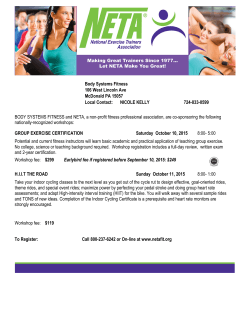 NETAWorkshop - Body Systems Fitness