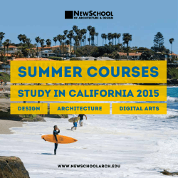 SUMMER COURSES - NewSchool of Architecture + Design
