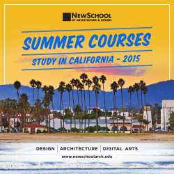 STUDY IN CALIFORNIA - 2015 - NewSchool of Architecture + Design