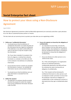 SE Fact Sheet_How to protect your ideas using a