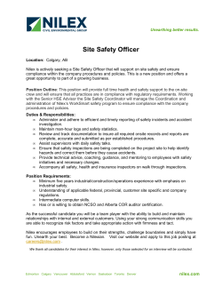 Site Safety Officer Posting.