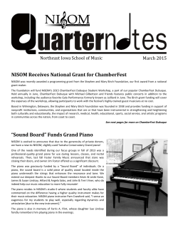 Read Newsletter - Northeast Iowa School of Music