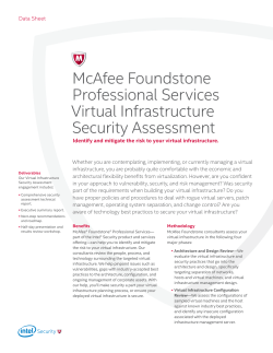 McAfee Foundstone Professional Services Virtual Infrastructure