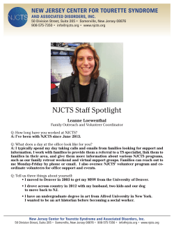 NJCTS STAFF PROFILE