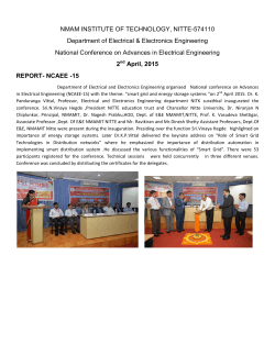 a report on national conferences on advances in electrical engineering