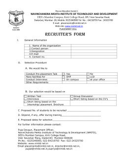 RECRUITER`S FORM