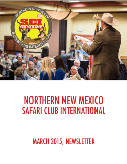 our March 2015 Newsletter HERE