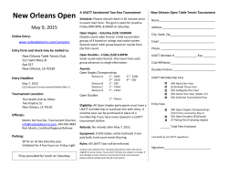 New Orleans Open - The New Orleans Table Tennis Club