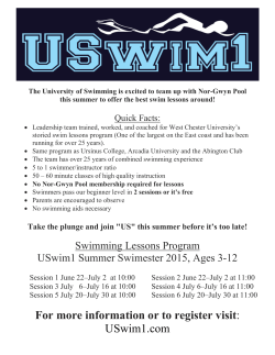 2015 Swim Lesson Registration - Nor