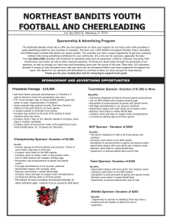 Sponsorship Form - Northeast Bandits