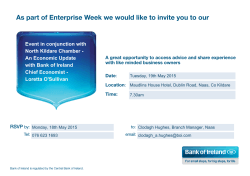 As part of Enterprise Week we would like to invite you to our