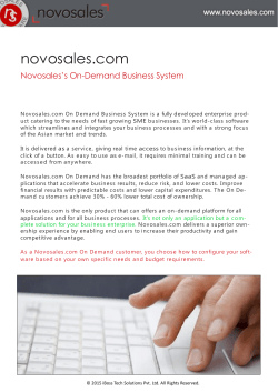 Novosales On-Demand Business System