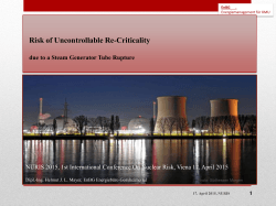 Risk of Uncontrollable Re-Criticality due to a Steam