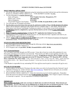 Student Instructions about Licensure May 2015