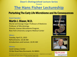 The Hans Fisher Lectureship