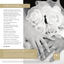 Wedding Packages - Oak Bay Beach Hotel