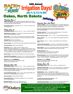 2015 Oakes Irrigation Days Information