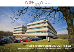 THORPE WOOD PETERBOROUGH, PE3 6SB