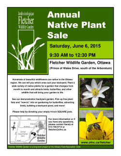 Annual Native Plant Sale - The Ottawa Field