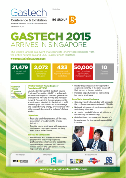Gastech 2015 Young Engineer Foundation