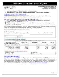 HHSa J-1 NON-DEGREE STUDENT DS-2019 REQUEST