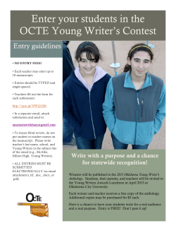 Enter your students in the OCTE Young Writer`s Contest