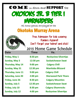 Okotoks Jr. B Tier I Marauders
