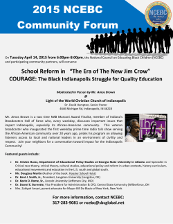 2015 NCEBC Community Forum