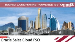 Omnix FSO Oracle Sales Could