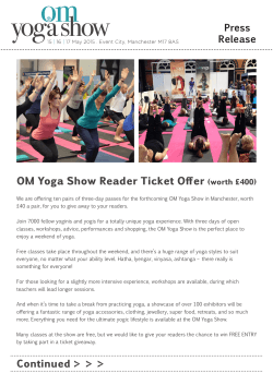 Competition - Om Yoga Show