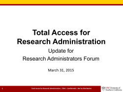 Total Access for Research Administration