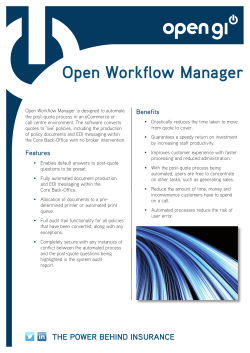 your Open Workflow Manager pdf factsheet.