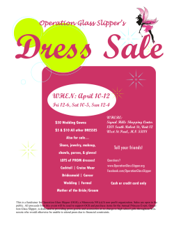 Dress Sale April 2015 - Operation Glass Slipper
