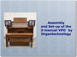 Assembly Manual - VPO Organtechnology LLC