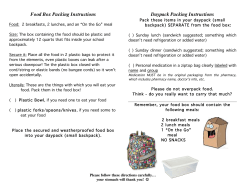 Food Box Packing Instructions Daypack Packing