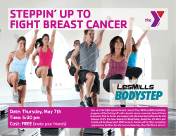 STEPPIN` UP TO FIGHT BREAST CANCER