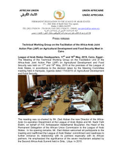 Press release - African Union Pages