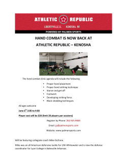 hand combat is now back at athletic republic – kenosha