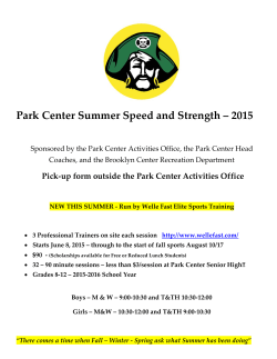 Park Center Summer Speed and Strength – 2015