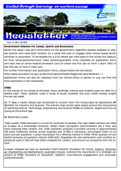 Issue 14 Newsletter 21 May 2015 : ( | 2.3 MB)
