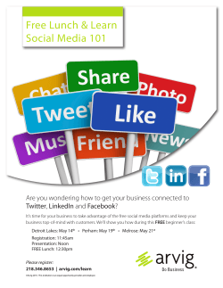 Arvig`s Free Lunch & Learn – Social Media 101