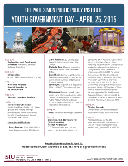 youth government day - april 25, 2015