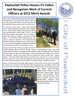 Pawtucket Police Honors it`s Fallen and Recognizes Work of Current