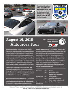 Event Info PDF - Porsche Club of America