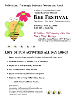 Proctor mkt flyer - Pierce County Beekeepers Association