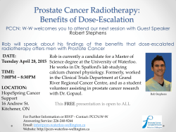 Prostate Cancer Radiotherapy: Benefits of Dose