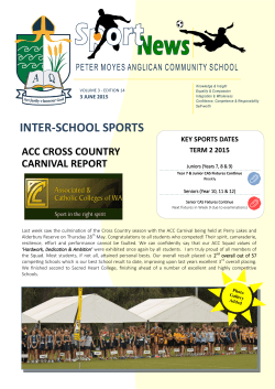 Sports News - Peter Moyes Anglican Community School