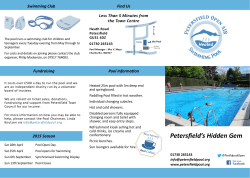 2015 Brochure front - Petersfield Open Air Pool