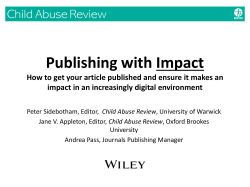 Publishing with IMPACT