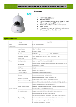 Wireless HD P2P IP Camera Alarm SV-VPC2